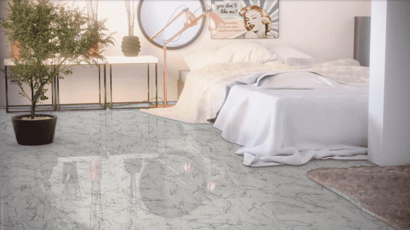 Kronotex Falquon Fliesenoptik Glamour Hochglanz Carrara Marmor Laminat