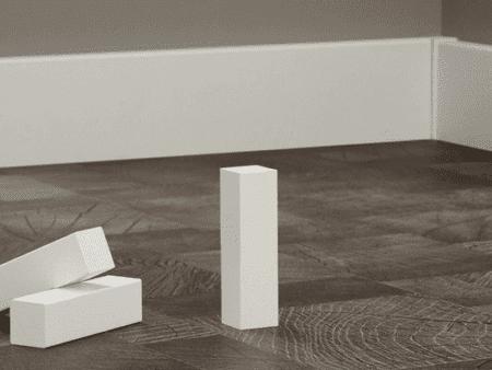 Eckhölzer weiß 125 mm