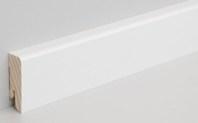 Sockelleiste Echtholz weiss lackiert 40x16x2500 mm