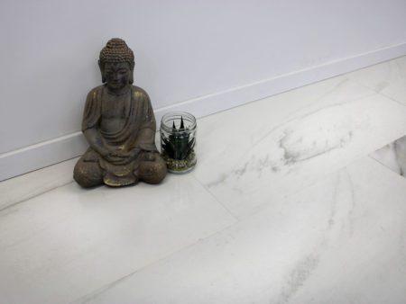 Vinyrock XL Gloss Fliesenoptik Hochglanz Kalba Carrara Marmor